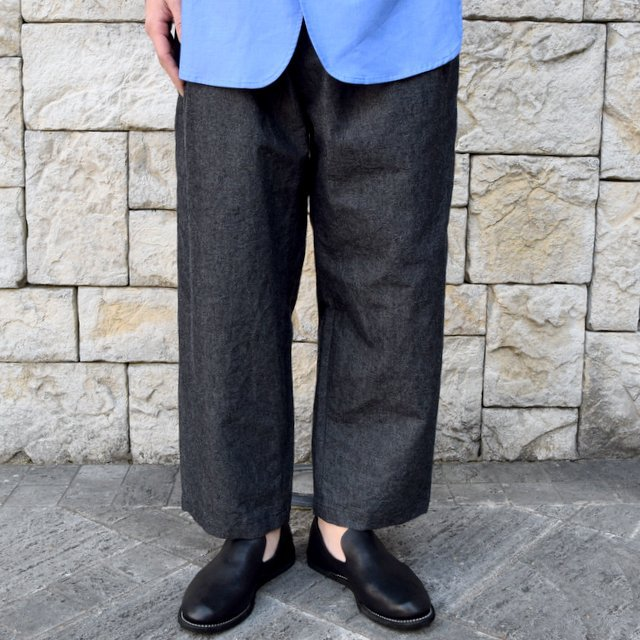 【30% off sale】【2020 SS】un unbient / COTTON WOOL ONE TUCK PANTS -CHARCOAL-#UNSP4620(1)
