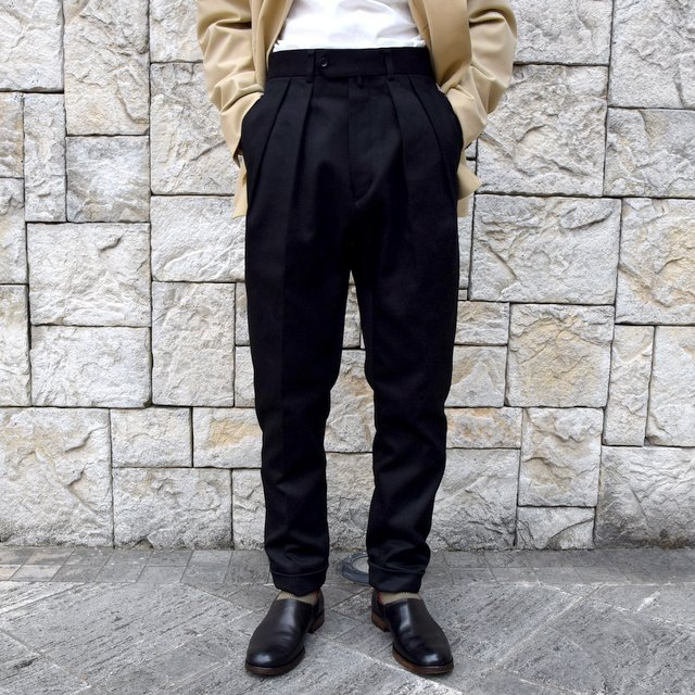 【2020 SS】NEAT(ニート)/ COTTON PIQUE ''TAPERED'' -BLACK- #20-01CPT(1)