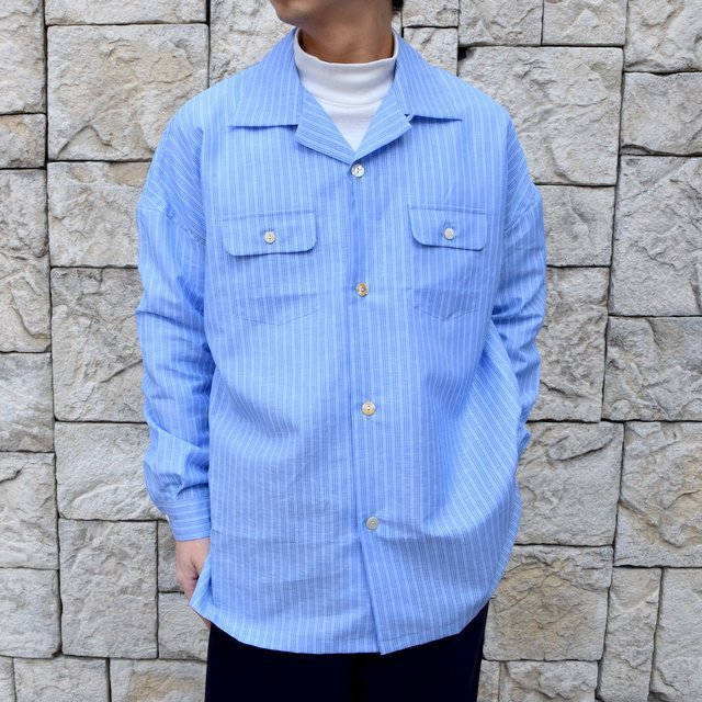 【30% off sale】【2020】MAATEE&SONS(マーティーアンドサンズ)/ ''DAVID&JOHN ANERSON'' OPEN COLLAR SHIRT -2色展開- #MT0103-0607A(1)