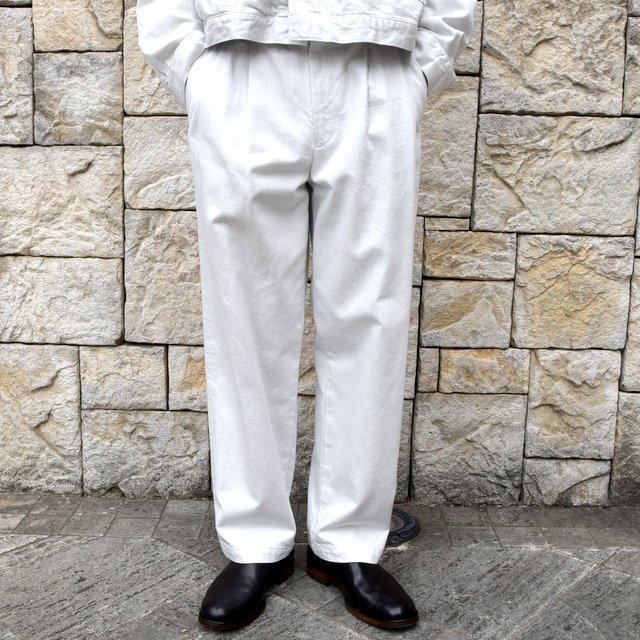 【2020 SS】YOKE(ヨーク)/ 2TUCK WIDE TROUSERS -2色展開- #YK20SS0105P(1)