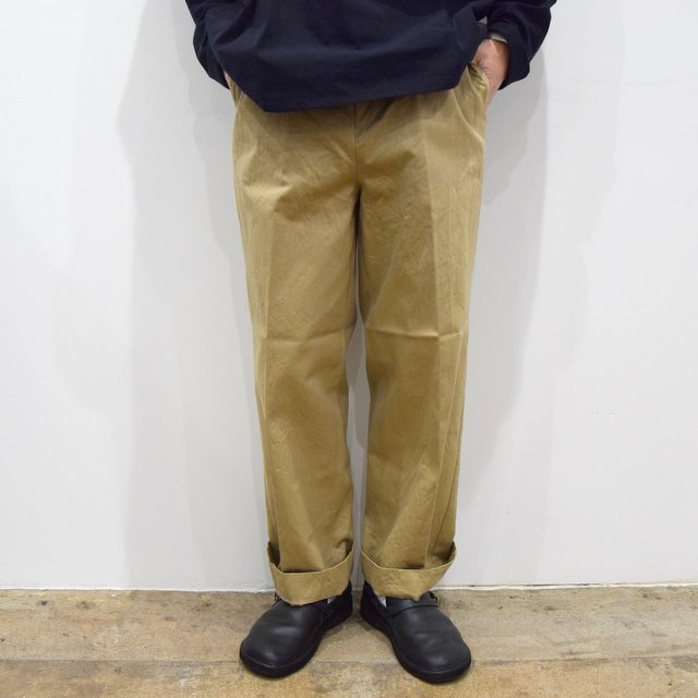 【2020】YAECA (ヤエカ)/ CHINO CLOTH PANTS CREASED -KHAKI- #10605(1)