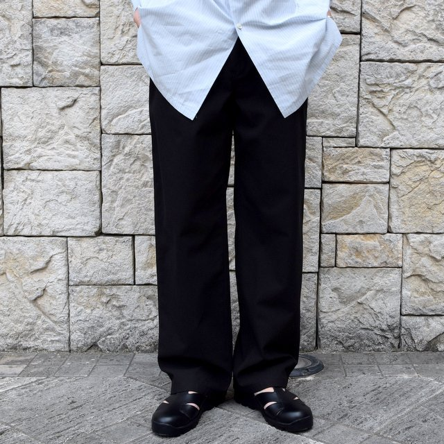 【2020】AURALEE(オーラリー)/ FINX HARD TWIST GABARDINE PANTS -BLACK- #A20SP02FB(1)