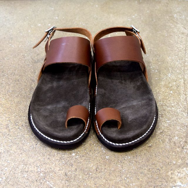 【2020 SS】KAPTAIN SUNSHINE × PHIGVEL / GURKHA FOOTBED SANDALS -BROWN- #KS20SGD06(1)