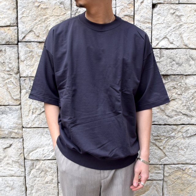 【2020】AURALEE(オーラリー)/ SUPER HIGH GAUGE SWEAT BIG TEE -INK BLACK- #A20SP02NU(1)