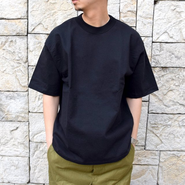 【2020 SS】AURALEE(オーラリー)/ STAND UP TEE -BLACK- #A20ST01SU(1)