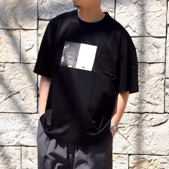 【2020 SS】stein(シュタイン)/ PRINT TEE ''TO COMPLETE'' -BLACK- #ST154(1)