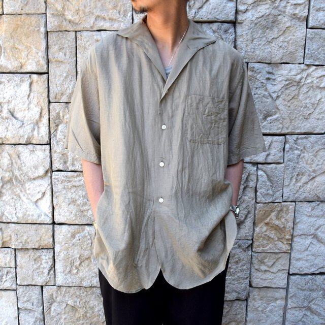 【30% off sale】【2020】KAPTAIN SUNSHINE (キャプテンサンシャイン)/ RIVIERA S/S SHIRT -KHAKI- #KS20SSH04(1)