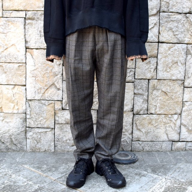 【2020】stein(シュタイン)/ WIDE TAPERED TROUSERS -GLEN CHECK- #ST178-2(1)