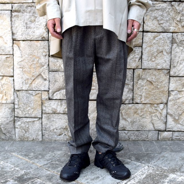 【2020】stein(シュタイン)/ WIDE TAPERED TROUSERS -HERRINGBONE- #ST178-2(1)