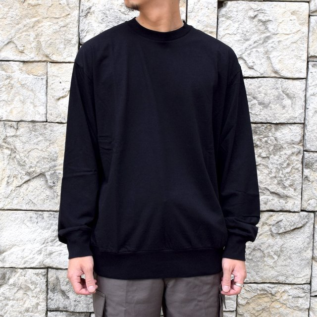 【2020】blurhms ROOTSTOCK(ブラームス) / SILK COTTON JERSEY L/S LOOSE FIT -BLACK- #ROOTS-F206(1)