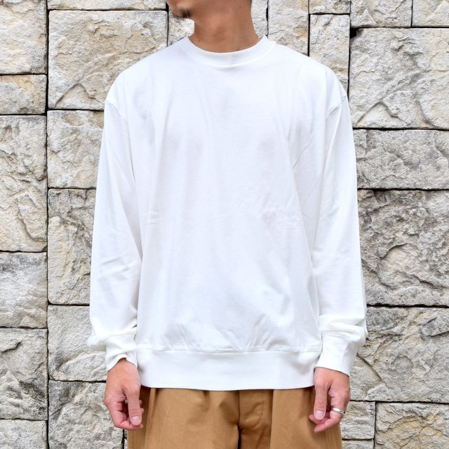【2020】blurhms ROOTSTOCK(ブラームス) / SILK COTTON JERSEY L/S LOOSE FIT -OFF- #ROOTS-F206(1)