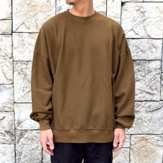 blurhms ROOTSTOCK(ブラームス) / Rough & Smooth Thermal -KHAKI BROWN-(1)