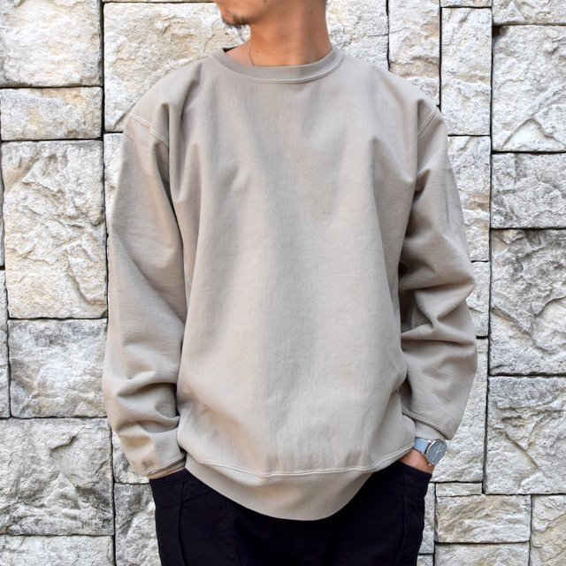 AURALEE(オーラリー) SUPER MILLED SWEAT P/O -KHAKI GRAY- A20AP02SM(1)