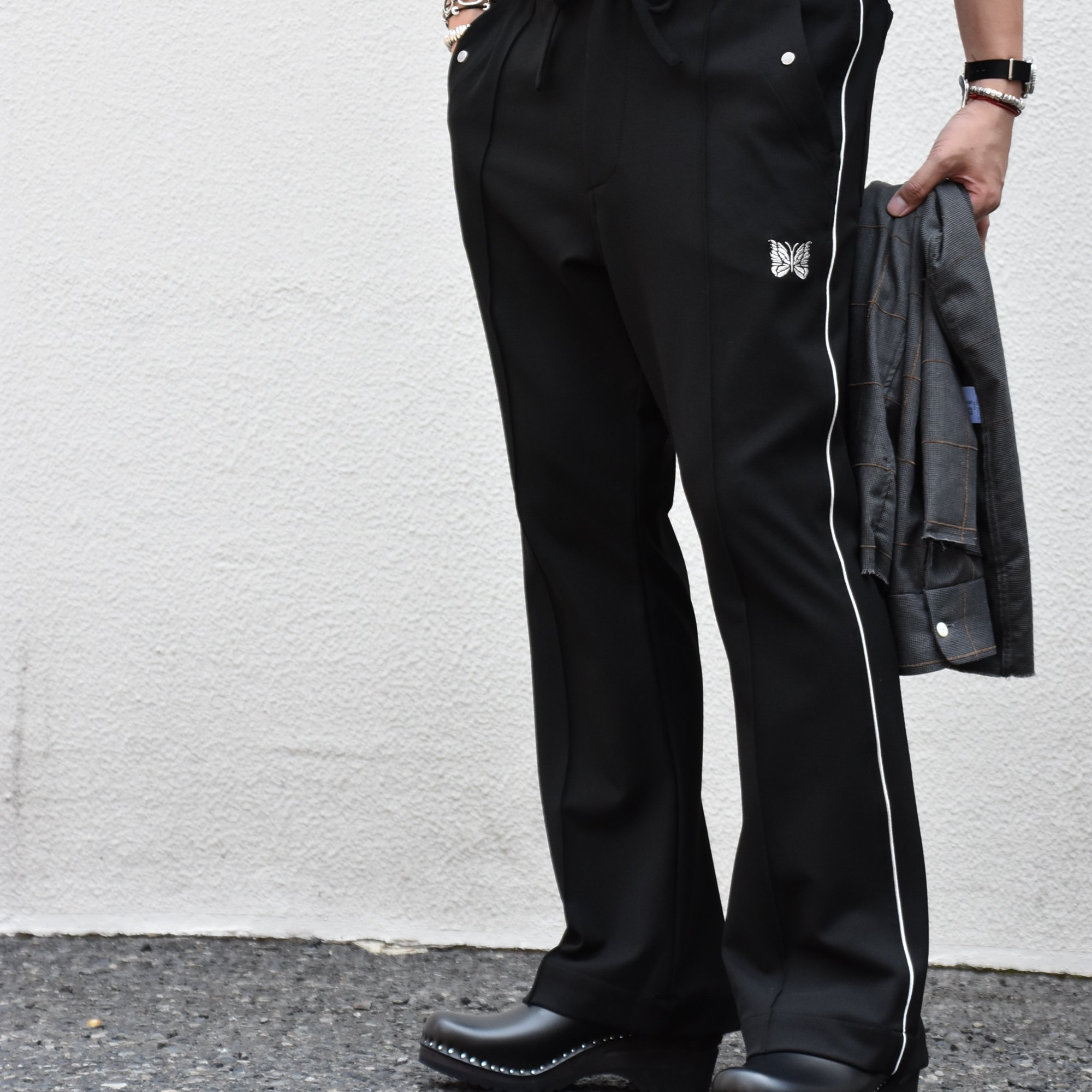 【2020】NEEDLES(ニードルス) Piping cowboy pants -BLACK- #HM-135(1)