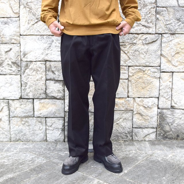 【2020】blurhms(ブラームス)/ SUPER SURGE WIDE SLACKS -BLACK- #BHS20F002(1)