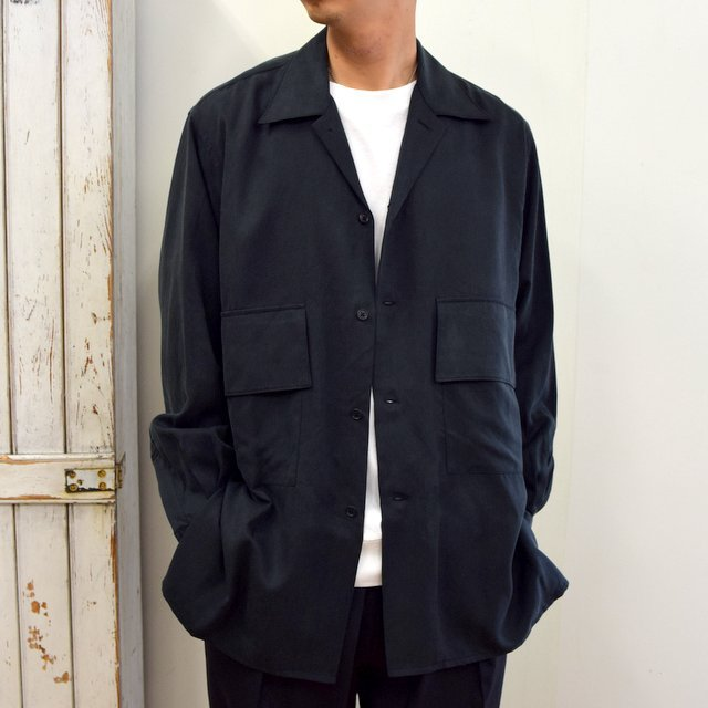 【2020】YOKE(ヨーク)/ BIG FLAP LONG SHIRTS -BLACK- #YK20AW0144SH(1)