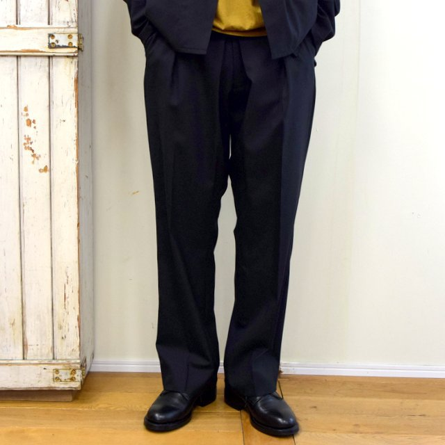 【2020】YOKE(ヨーク)/ FRONT TUCK BELTED WIDE TROUSERS -BLACK- #YK20AW0158P(1)