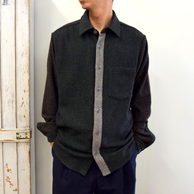 【2020】FRANK LEDER(フランクリーダー)/ VINTAGE FABRIC EDITION SHIRT -GREEN- #0126070(1)
