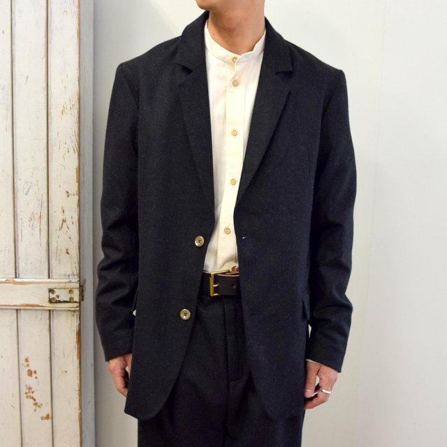 【2020】FRANK LEDER(フランクリーダー)/ LIGHT WEIGHT LODEN WOOL 2B JACKET -BLACK- #0122022(1)