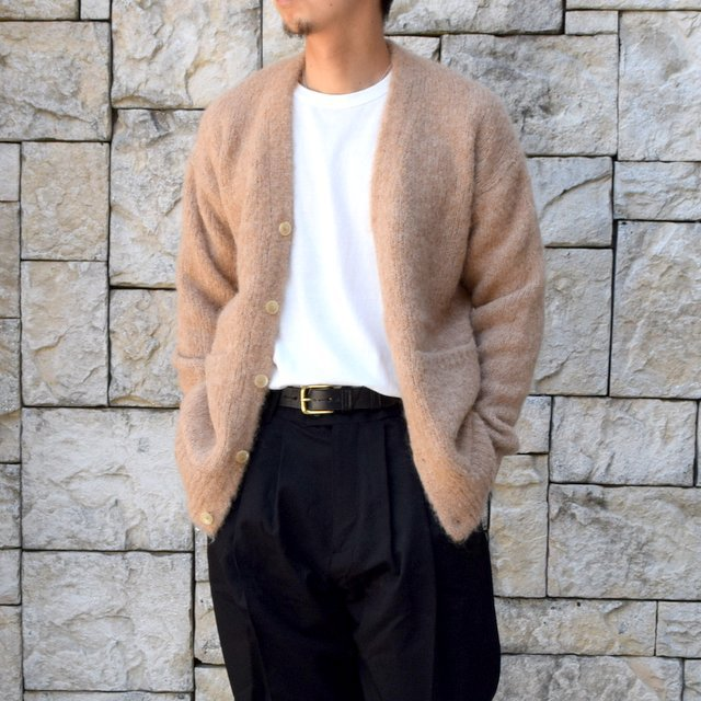 【2020】 AURALEE(オーラリー)/ ALPACA WOOL SUPER LIGHT KNIT BIG CARDIGAN -TOP BEIGE- #A20AC01AW(1)