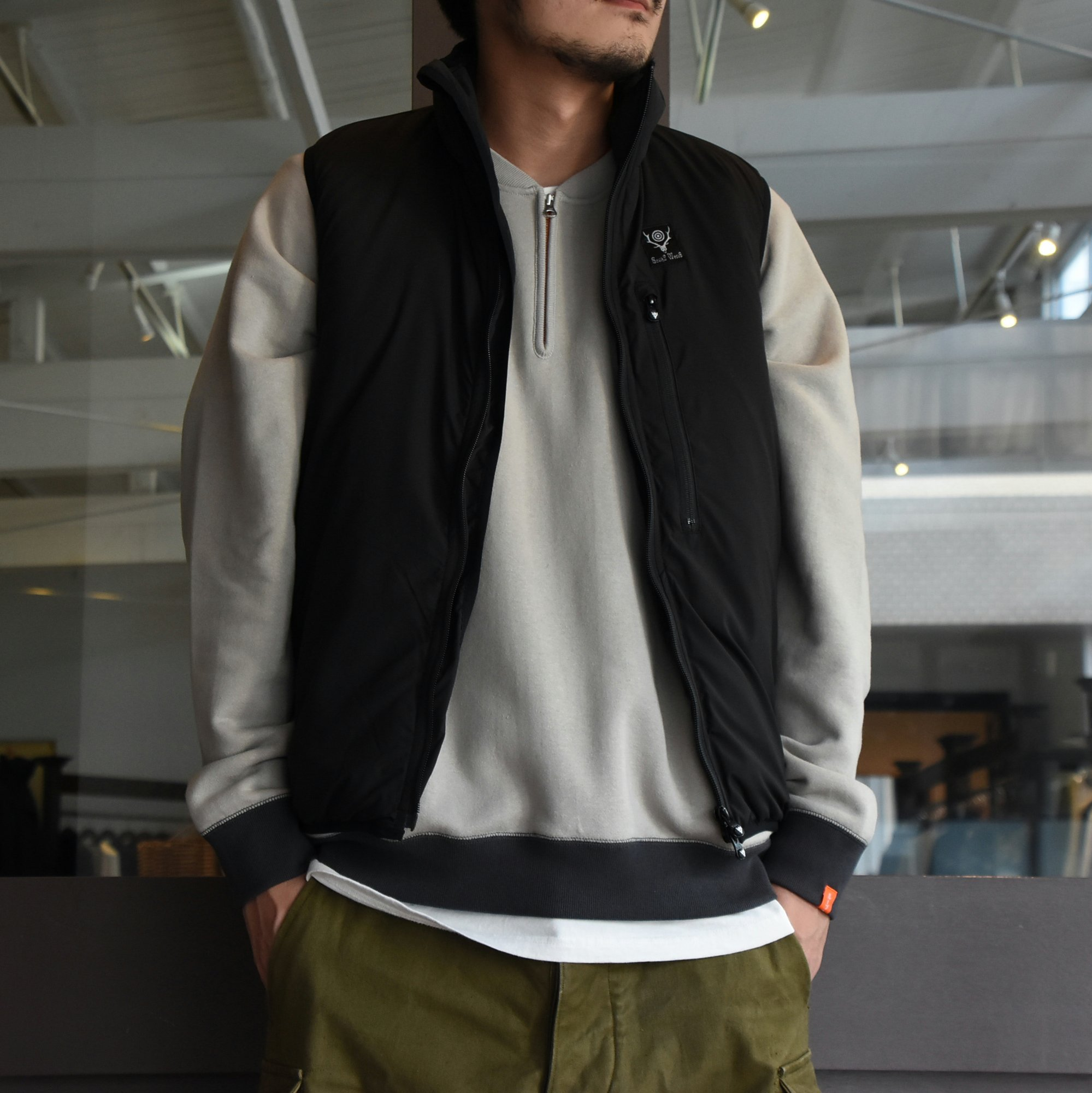 【2020】South2 West8(サウスツーウエストエイト)Insulator Vest-Peach Skin-BLACK- #HM813(1)