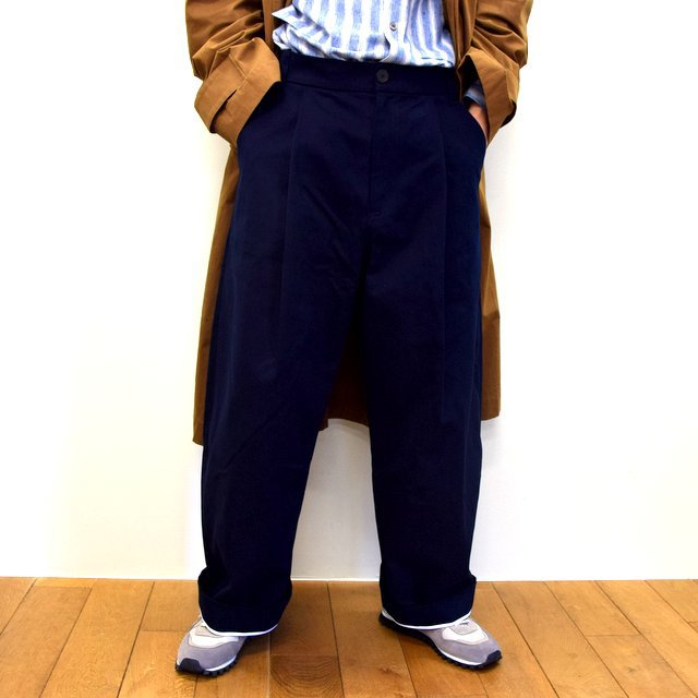 STUDIO NICHOLSON(スタジオニコルソン)/ PEACHED COTTON TWILL-DARK NAVY- #SNM-351(1)