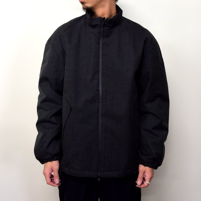 DESCENTE PAUSE(デサント ポーズ)/ WOOL MIX STAND COLLAR ZIP UP BLOUSON -GRBK- #DLMQJC33(1)