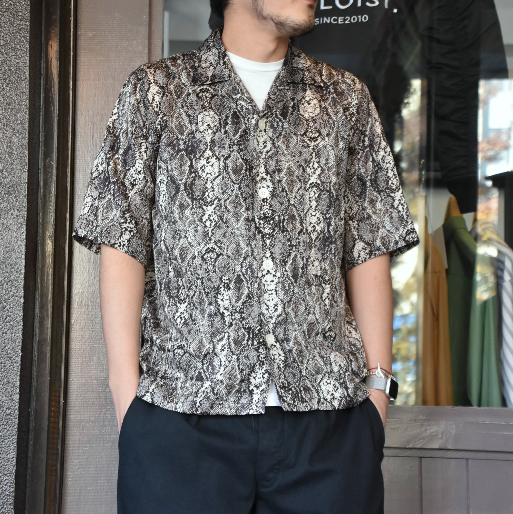 [2021]NEEDLES(ニードルス) CABANA SHIRT PYTHON PT -BLACK- #IN169(1)