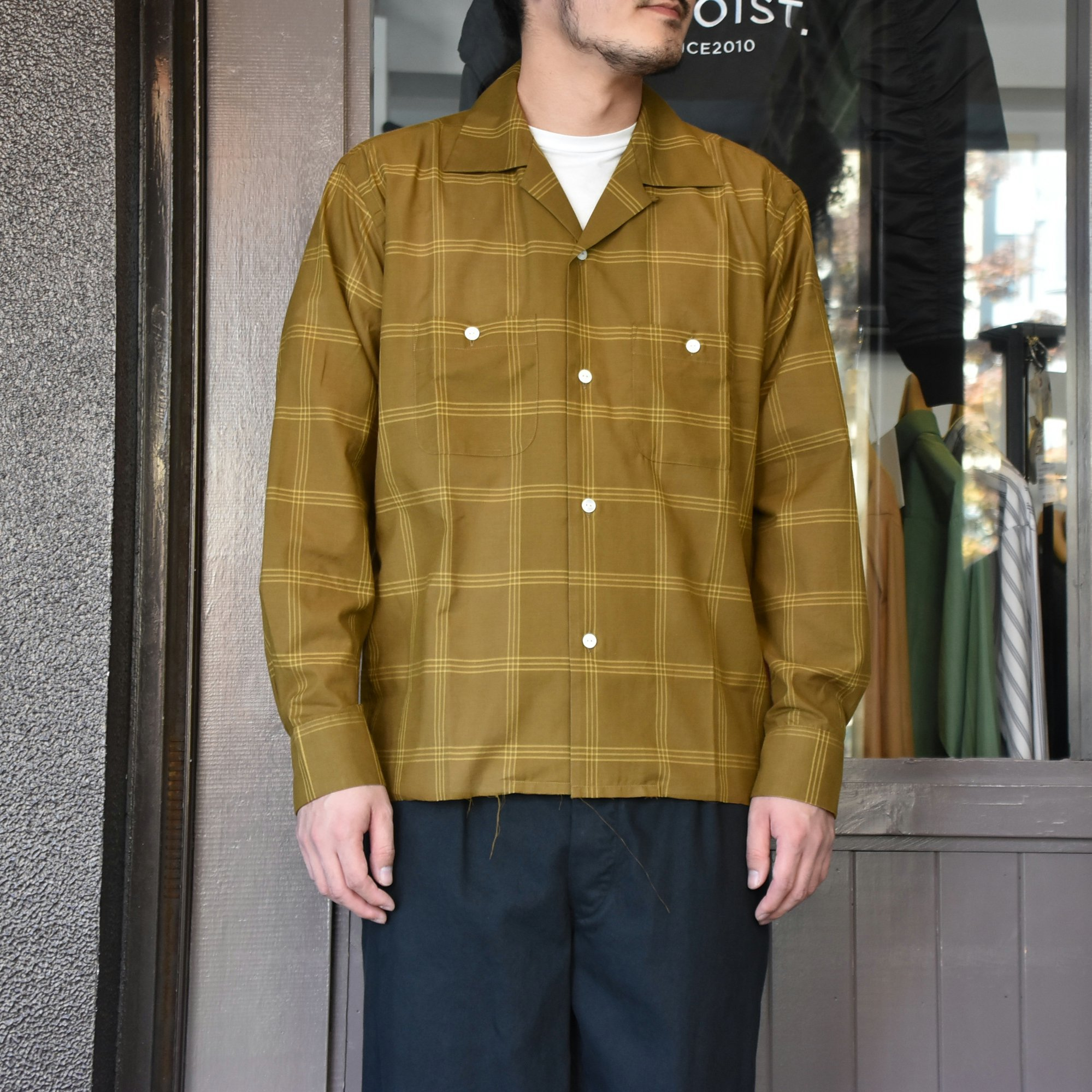 [2021]NEEDLES(ニードルス) C.O.B. ONE-UP SHIRT C/S PLAID -BROWN-#IN170(1)