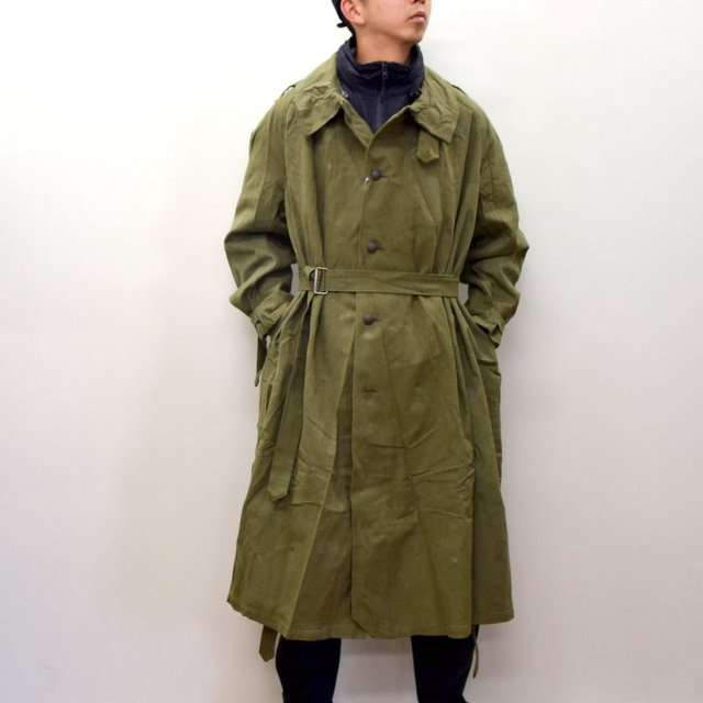 DEAD STOCK(デッドストック)/ FRENCH ARMY MOTORCYCLE COAT -OLIVE- #MILITARY300(1)
