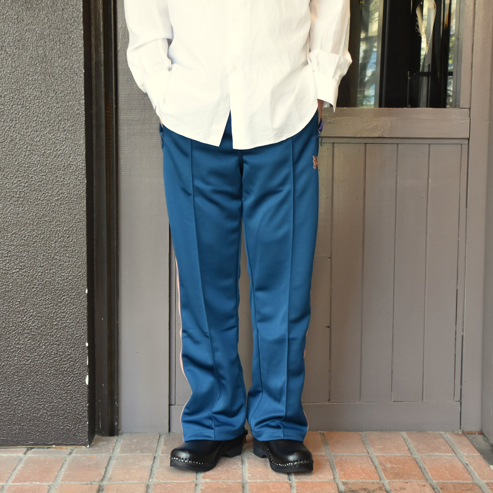 [2021]NEEDLES(ニードルス) TRACK PANT POLY SMOOTH -TEAL GREEN- #IN181(1)