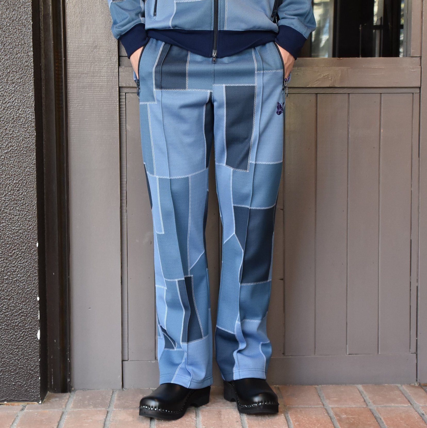 [2021]NEEDLES(ニードルス) TRACK PANT POLY JQ.-PATCHWORK- #IN198(1)