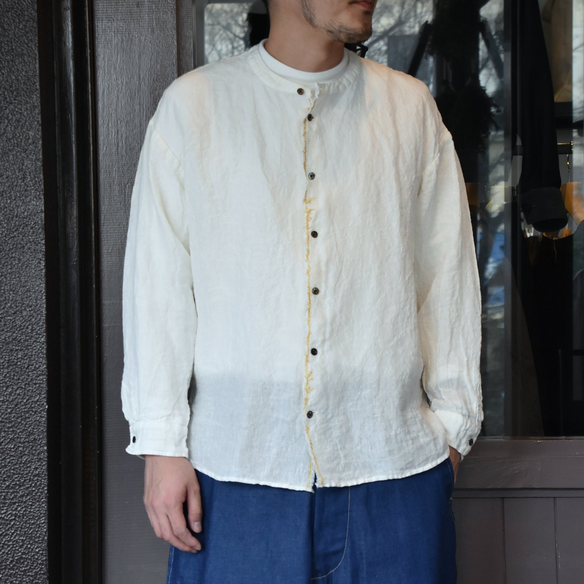 [2021]amachi.(アマチ) Front Cut Shirts -OFF WHITE- #AY8-9(1)