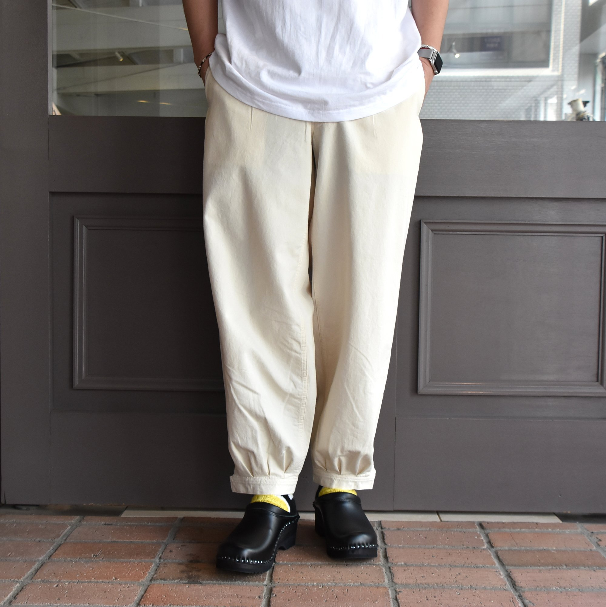 [2021]amachi.(アマチ) DetachablePocket Work Pants-Off White- #AY8-22(1)