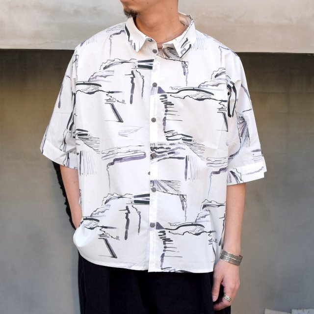 toogood(トゥーグッド)/ THE GARDENER SHIRT SHORT PRINTED POPLIN -PLOUGHED FIELDS-(1)