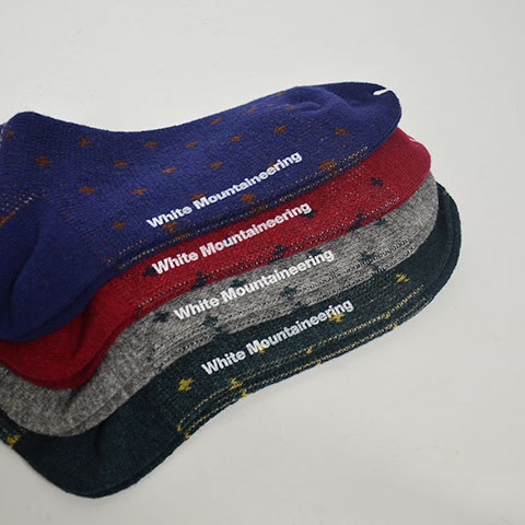 【30% off sale】White Mountaineering(ホワイトマウンテニアリング) Reindeer Pattern Middle Socks(2)