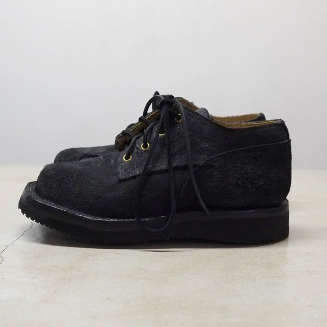 GRIZZLY BOOTS(グリズリー ブーツ) Lineman Oxford -BLACK ROUGH OUT-【別注】(2)