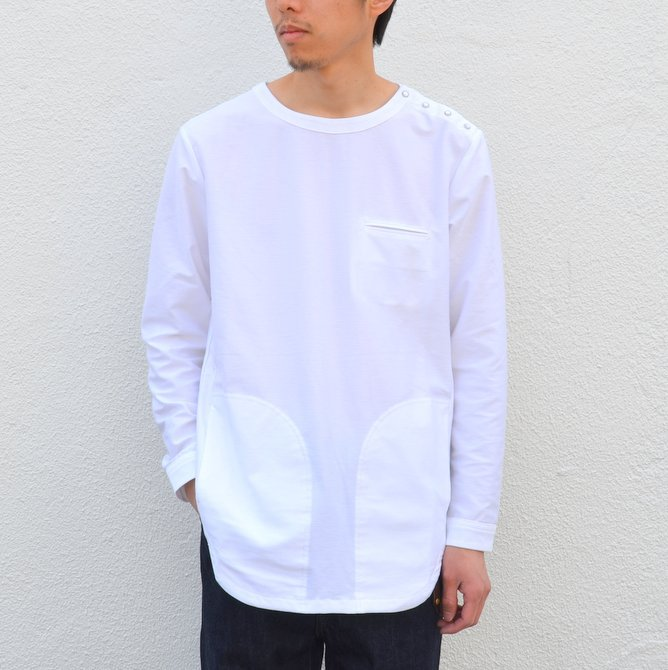 【30% OFF SALE】【17 SS】Curly(カーリー) HIGH GAUGE TWILL JERSEY -WHITE- #171-31032SD(2)