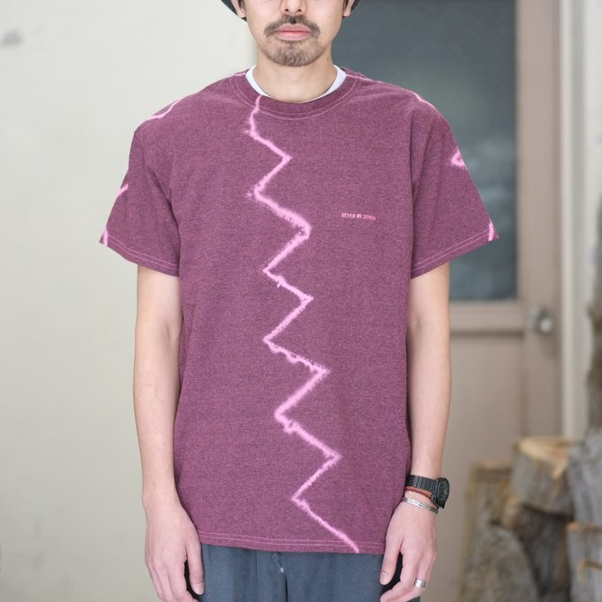【30% off SALE】【2018 SS】7 × 7 / seven by seven ( セブン バイ セブン ) TIE-DYE T-SHIRT -PINK- #SBSS18TDTSH(2)