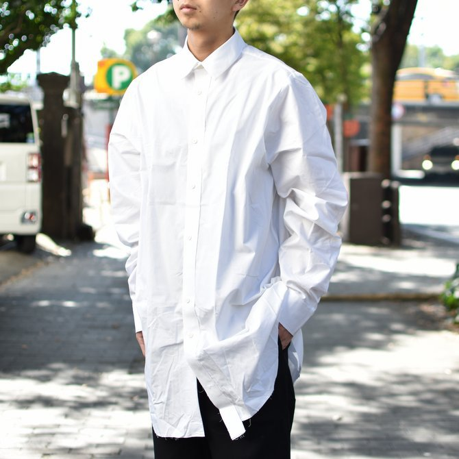 【2018 AW】 CAMIEL FORTGENS(カミエル フォートゲンス)/LONG SHIRT SHIRTING -WHITE- #CAMIEL-634(2)