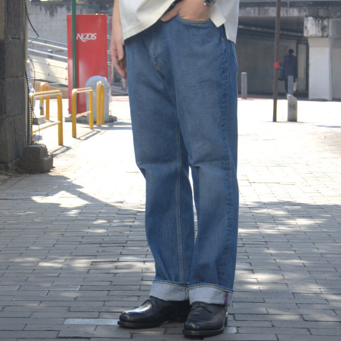 【20 SS】 AURALEE(オーラリー)/ WASHED HARD TWIST DENIM 5P PANTS #LIGHT INDIGO  A20SP07DM(2)