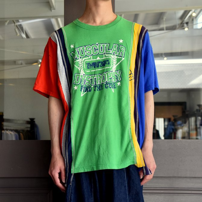 REBUILD BY NEEDLES  (リビルドバイニードルス) 7 cut wide tee-college- green EJ291(2)