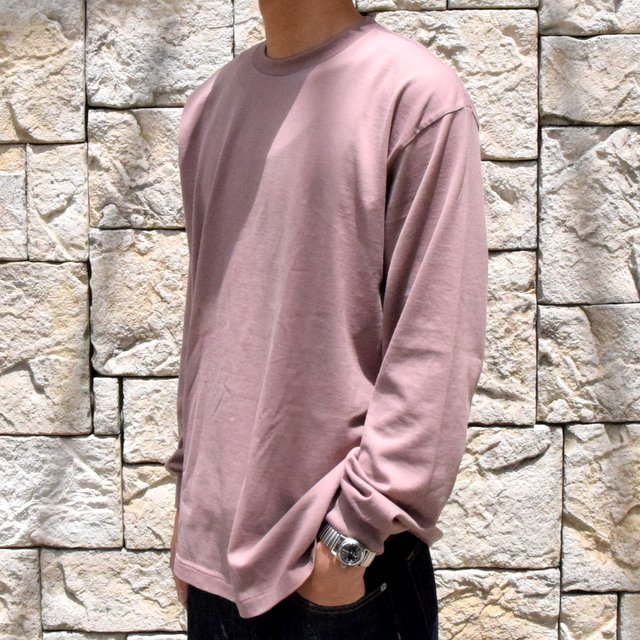 【2019 AW】 AURALEE(オーラリー)/ LUSTER PLAITING L/S TEE -LIGHT BROWN- #A9AP01GT(2)
