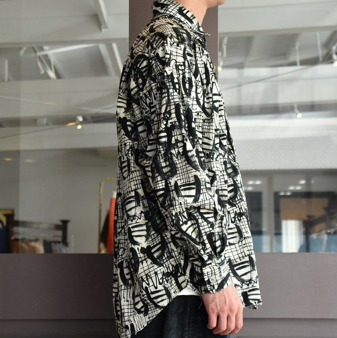 【2019 AW】AiE(エーアイイー) PAINTER SHIRT-ABSTRACT PRINT- FK469(2)