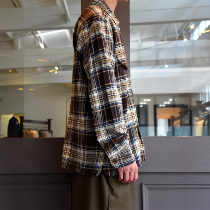 South2 West8(サウスツーウエストエイト) SMOKEY SHIRT-TWILL/PLAID #FK841(2)