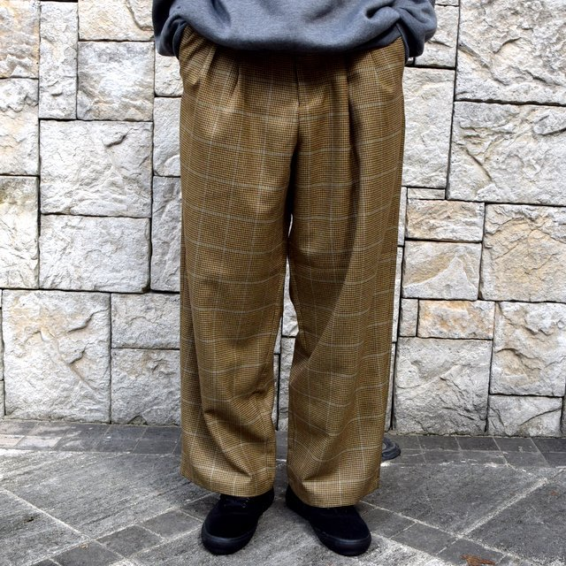 【30% OFF】is-ness(イズネス)/ COJ NU WIDE EZ PANTS -BROWN BLUE-  #30AWPT05-BR(2)