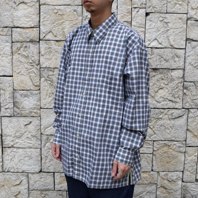 Marvine Pontiak Shirt Makers(マーヴィンポンティアックシャツメーカーズ)/TWO TONE L/S Shirt -GREEN CHECK- #MPSM-1913S(2)