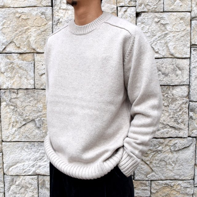 BATONER(バトナ—)/ HEAVY WEIGHT CASHMERE CREW NECK BN-19FL-044(2)