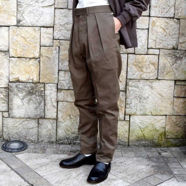 【2020 SS】NEAT(ニート)/ COTTON PIQUE ''TAPERED'' -KHAKI- #20-01CPT(2)