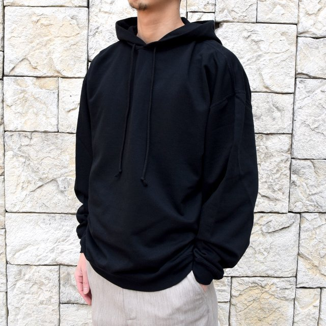【2020 SS】AURALEE(オーラリー)/ SUPER SOFT SWEAT BIG P/O PARKA -BLACK- #A20SP01GU(2)